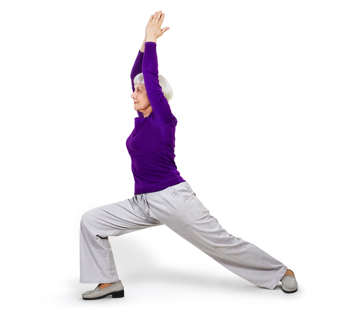 older lady yoga pose