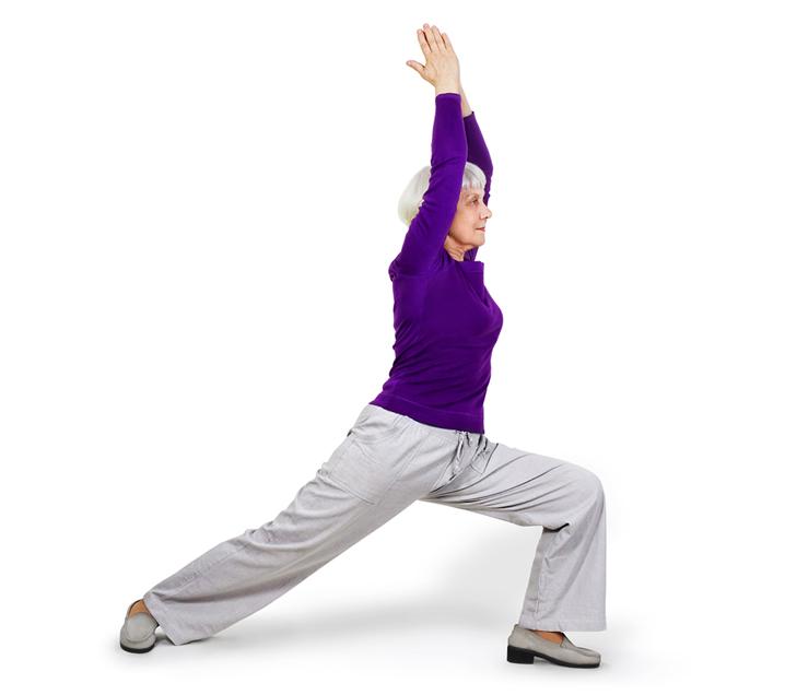 older lady yoga pose